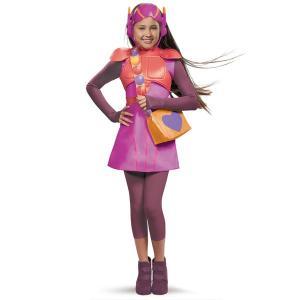 映画「ベイマックス」より、ハニーレモンの子供用・女の子用コスチュームです。ドレス(背中にマジックテー...