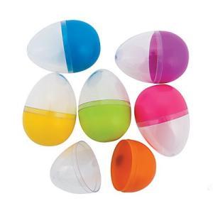 イースターエッグ 透明 クリア 中身が見える 48個 セット イースター おもちゃ エッグハント グッズ