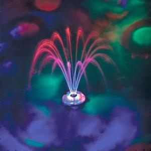 ナイトプール グッズ プール用ライト付き噴水 照明 パーティーグッズ ガーデニンググッズ 庭 ガーデン エクステリア 屋外照明 水遊び おもちゃ 玩具|acomes