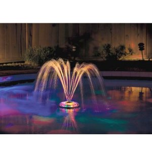 ナイトプール グッズ プール用ライト付き噴水 照明 パーティーグッズ ガーデニンググッズ 庭 ガーデン エクステリア 屋外照明 水遊び おもちゃ 玩具|acomes|03