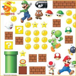 ウォールステッカー スーパー マリオ 壁紙 シール デカール テレビゲーム|acomes