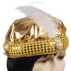 アラブ アラビア アラビアンナイト 王子 プリンス 帽子 ゴールド 羽根 宝石 ハロウィン コスプレ コスチューム 衣装 グッズ|acomes