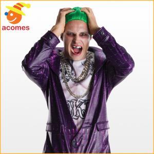 スーサイドスクワッド コスプレ ジョーカー 歯 大人 ハロウィン コスチューム イベント パーティー|acomes