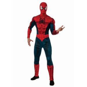 ハロウィン スパイダーマン コスプレ コスチューム 大人用 デラックス版 アメコミ ヒーロー 衣装 スーツ 仮装 グッズ acomes