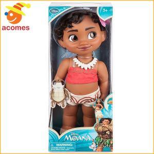 ディズニーの新作映画「モアナと伝説の海」より、幼いモアナの人形です。貝殻のネックレスをして、髪には花...