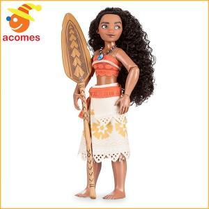 ディズニーの新作映画「モアナと伝説の海」より、モアナの人形です。南の島らしい格好をした人形で、ポーズ...