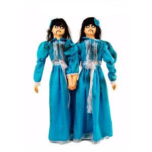 海外 ハロウィン 怖い デコレーション センサー 動く 電動 人形 仲良しの双子 ゾンビ お化け屋敷 装飾 飾り インテリア 恐怖 ホラー グッズ|acomes