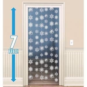 クリスマス デコレーション グッズ 天井飾り 雪模様 雪の結晶 白 くるくる スワール 213cm 6本セット acomes