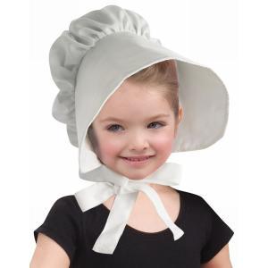 ボンネット 帽子 子供用 白 コロニアルスタイル フランス ビクトリア朝 中世 コスプレ 仮装 演劇 衣装|acomes