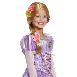 ディズニー コスプレ 子供 コスチューム 人気 ラプンツェル かつら ウィッグ 女の子 ハロウィン 仮装 変装 三つ編み 髪の毛 金髪 ブロンド acomes