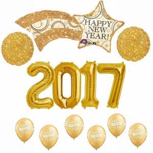 2017バルーン 風船 金 ゴージャス 新年会 パーティ デコレーション 飾り 装飾 インテリア acomes
