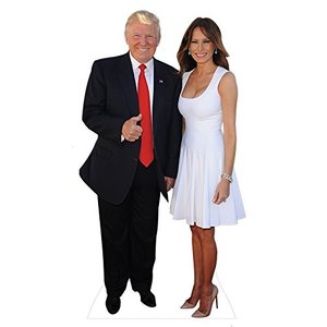 ドナルドトランプ メラニアトランプ 夫妻 等身大パネル グッドサイン アメリカ 大統領 政治家 インテリア 置物 グッズ (海外取寄)|acomes