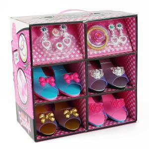 プリンセス おもちゃ お姫様 靴 サンダル アクセサリー 子供 4点セット シューズ ガールズ コスプレ|acomes
