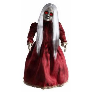 怖い 人形 唸る赤い服の女の子 ホラー インテリア 置物 ハロウィン デコレーション 飾り 装飾|acomes