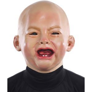 リアル赤ちゃん 泣き顔マスク 大人用 変装 コスプレ 仮装 かぶりもの おもしろグッズ|acomes