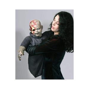 怖い ゾンビ 赤ちゃん 人形 マペット 飾り キモい 恐怖 ハロウィン 肝試し お化け屋敷 デコレーション|acomes