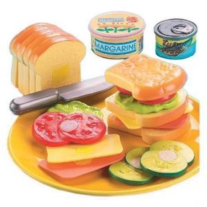 本物そっくりのサンドイッチ作り遊びセットです。  アメリカの子供たちに大人気! お肉やチーズ、野菜な...