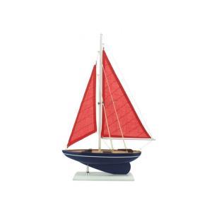 パシフィック セイラー ヨット 43cm ホワイト クルーザー メガヨット 模型 飾り デコレーション ハンプトンノーティカル