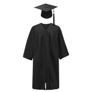 卒業式 スーツ アカデミック ガウン ローブ 帽子 角帽 セット 2020 チャーム付 黒 ブラック 海外 博士 ハロウィン|acomes