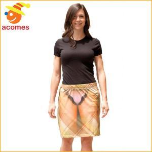おもしろ フェイク レディース セクシー スケスケ スカート 簡単 コスプレ 衣装 ハロウィン イベント パーティー フォーリアル|acomes