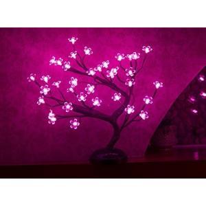 盆栽 インテリア ライト 照明 LED ピンク 桜 部屋 デコレーション 飾り 装飾 お花見 グッズ acomes