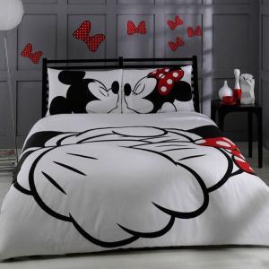 ミッキーマウス ミニーマウス ベッドシーツ 布団カバー セット クイーンサイズ インテリア グッズ 寝具 子供部屋 ディズニー|acomes