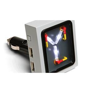 バック トゥ ザ フューチャー デロリアン 次元転移装置 自動車用 USB 充電器 ギフト 父の日|acomes