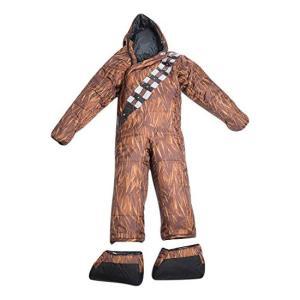簡単な着脱、着る/動ける寝袋です。スターウォーズのキャラクター、チューバッカのデザインです。  ・足...