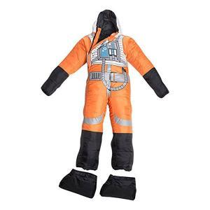 簡単な着脱、着る/動ける寝袋です。スターウォーズの反乱軍 パイロット 制服デザインです。  ・足の部...