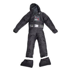 簡単な着脱、着る/動ける寝袋です。スターウォーズのキャラクター ダースベイダーデザインです。  ・足...