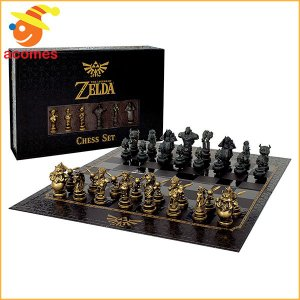 「ゼルダの伝説 時のオカリナ」をテーマにしたチェスセットです。磁気フロントクロージャー付きプレミアム...
