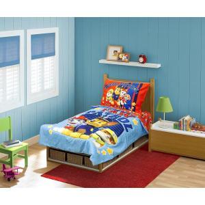 パウパトロール ベッドカバー セット 幼児向け 4点セット 寝具 インテリア グッズ|acomes