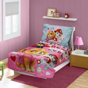 パウパトロール ベッドカバー セット 幼児向け 4点セット ピンク 寝具 インテリア グッズ|acomes