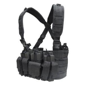 サバゲ― ベスト 装備 タクティカル チェスト 胸部 リグ ポーチ コンドル タクティカル リーコン チェストリグ ブラック 黒|acomes