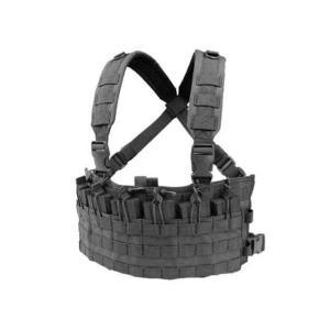 サバゲ― ベスト 装備 タクティカル チェスト 胸部 リグ ポーチ コンドル タクティカル ラピッドアサルト チェストリグ ブラック 黒|acomes