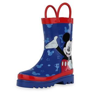 ディズニー コスプレ 子供 コスチューム 人気 レインブーツ キッズ 長靴 ミッキー 赤 青 キャラクター 雨具 梅雨 グッズ|acomes