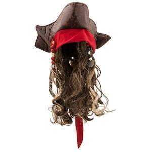 パイレーツ・オブ・カリビアン 最後の海賊 グッズ ジャックスパロウ 帽子 かつら ウィッグ セット 子供 海賊 コスプレ 仮装 キッズ acomes