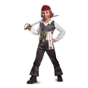 ディズニーの海賊映画「パイレーツオブカリビアン 最後の海賊」より、ジャック・スパロウの男の子向けコス...