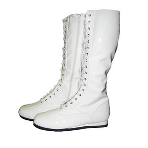 コスプレ 仮装用 レスリングシューズ 白 大人 プロレスラー 靴 海外 プロレス グッズ|acomes