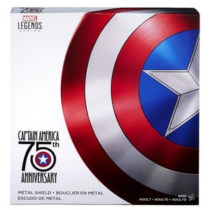 キャプテンアメリカ シールド 盾 75周年記念版 1/1スケール メタル ハスブロ Hasbro おもちゃ ヒーロー コスプレ 仮装 高級 インテリア|acomes