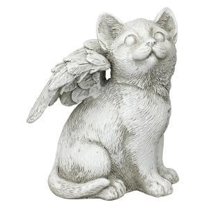 猫 ペット お墓 動物 メモリアル グッズ 石 置き物 Mサイズ|acomes