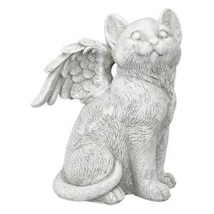 猫 ペット お墓 動物 メモリアル グッズ 石 置き物 Lサイズ|acomes