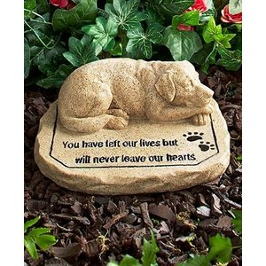 ペット メモリアル グッズ 犬 お墓 墓石 You have left our lives but will never leave our hearts 年賀状 戌年|acomes