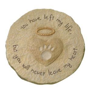 ペット メモリアル グッズ 犬 猫 お墓 墓石 You will never leave my heart 年賀状 戌年|acomes