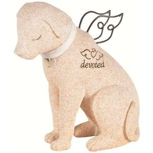 ペット メモリアル グッズ 犬 お墓 墓石 devoted 置き物 人形 年賀状 戌年|acomes