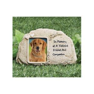 ペット メモリアル グッズ 犬 お墓 墓石 In memory of a faithful friend and companion 年賀状 戌年|acomes