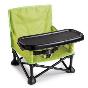 Summer Infant サマーインファント 赤ちゃん 椅子 ベビーチェア トレー付 折り畳み式 持ち運べる ポータブル 緑 海外 育児 グッズ acomes