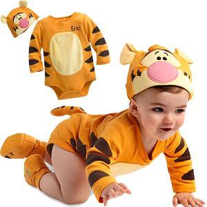 ディズニー プーさん ティガー ベビー服 名入れ 赤ちゃん 幼児 子供 コスチューム コスプレ 衣装 仮装 プリンセス ロンパース グッズ|acomes