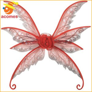 羽根 ウイング 蝶 羽 翼 チョウ 妖精 コスプレ グッズ フラワー レッド ハロウィン イベント パーティー|acomes