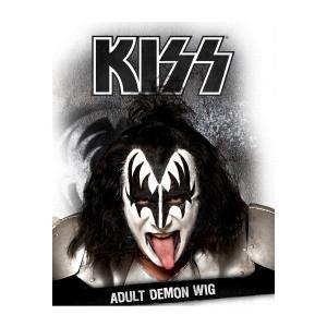 KISS デーモン ジーンシモンズ かつら ウィッグ コスプレ メタル ロック バンド 仮装 グッズ|acomes